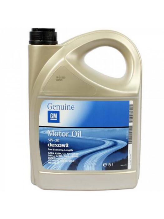 Синтетическое масло GENERAL MOTORS Dexos2 Longlife 5W30 5 л