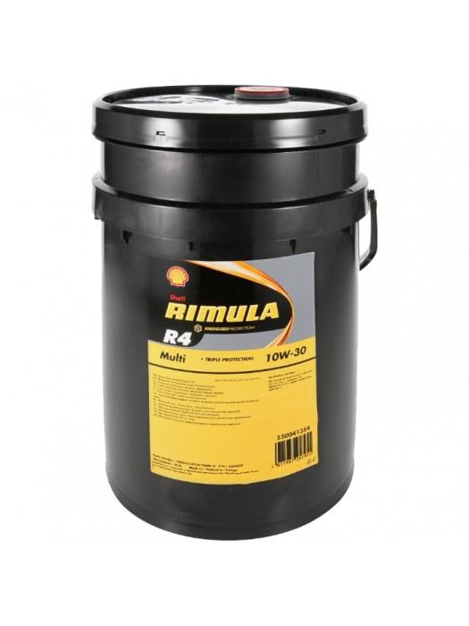 Полусинтетическое масло SHELL Rimula R4 Multi 10W-30 20 л