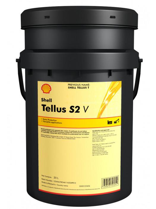 Гидравлическое масло SHELL Tellus S2V46 V46, 20 л