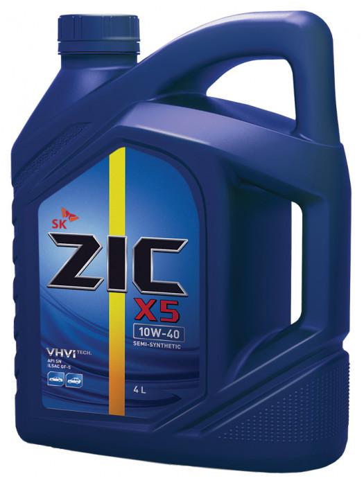 Полусинтетическое масло ZIC X5 10W-40 4 л