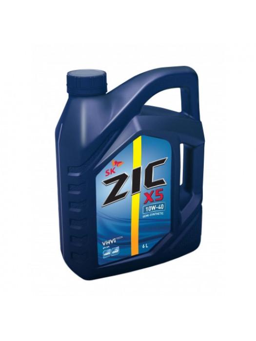 Полусинтетическое масло ZIC X5 10W-40 6 л