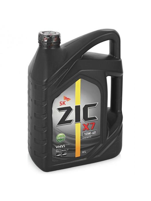 Полусинтетическое масло ZIC X7 DIESEL 10W-40 6 л